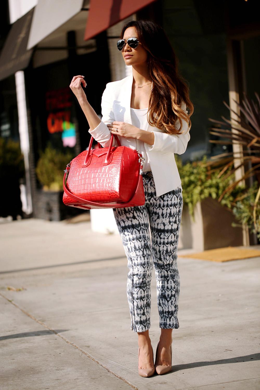 JessiMalay - shoppingoutfit - childrensclothes - childrenspants - tie dye - croppedpants - printedjeans - prints - jeans - whitetee - blazer - whiteblazer - nastygal - topshop - isabelmarant - isabelmarantpourh&m - isabelmarantforh&m - isabelmarantath&m - heels - highheels - stevemadden - raybans - rayban - Antigona - Antigonabag - Givenchypurse- Givenchybag - Givenchy - GivenchyAntigonabag - GivenchyAntigonapurse - losangeles - LA