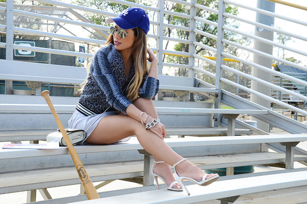 JessiMalay - Meskita slip dress - Meskita - Meskita lifestyle - LA hat - baseball hat - Zara heels - DVF cross body bag - RachelRoy bracelets - Vince Camuto bracelet - American Eagle bomber jacket - barlll earrings - crystal earrings