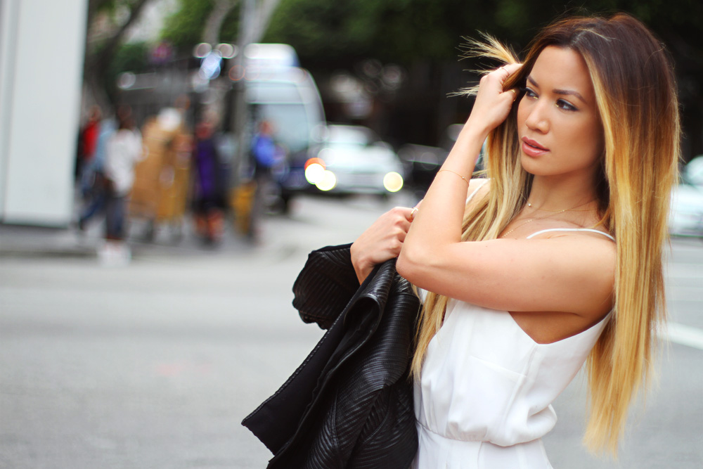 Jessi Malay - Finders Keepers jumpsuit - Revolve clothing - Celine - Giuseppe Zanotti pumps - Downtown LA