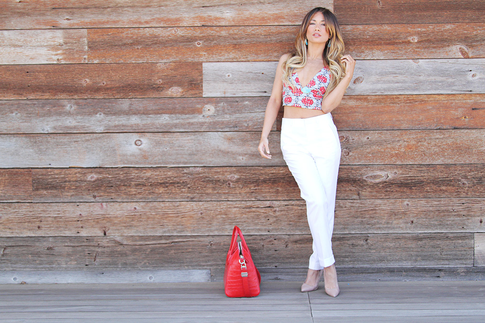 Jessi Malay - Zara crop top - TopShop white pants - Steve Madden nude pumps - Givenchy Antigona Bag - H&M cream sweater - Amy Gregg Jewelry - rare jewelry - Peruvian Opals