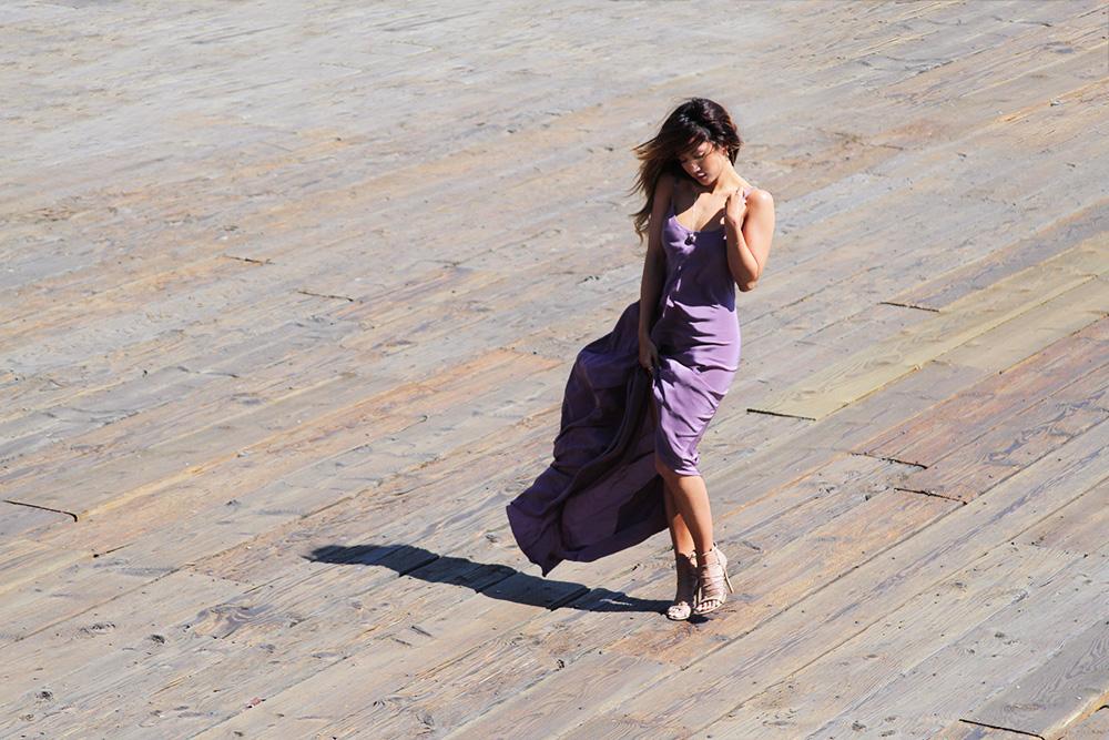 JEssi Malay - MEskita - Amy Gregg Jewelry - TOny Bianco heels - Santa Monica Pier