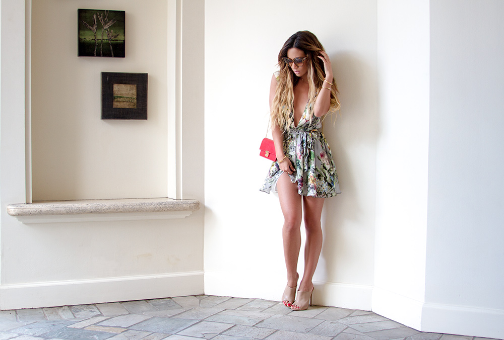 mwt my white t Jessi Malay floral romper hawaii westin waikiki moana surfrider fashion blog blogger