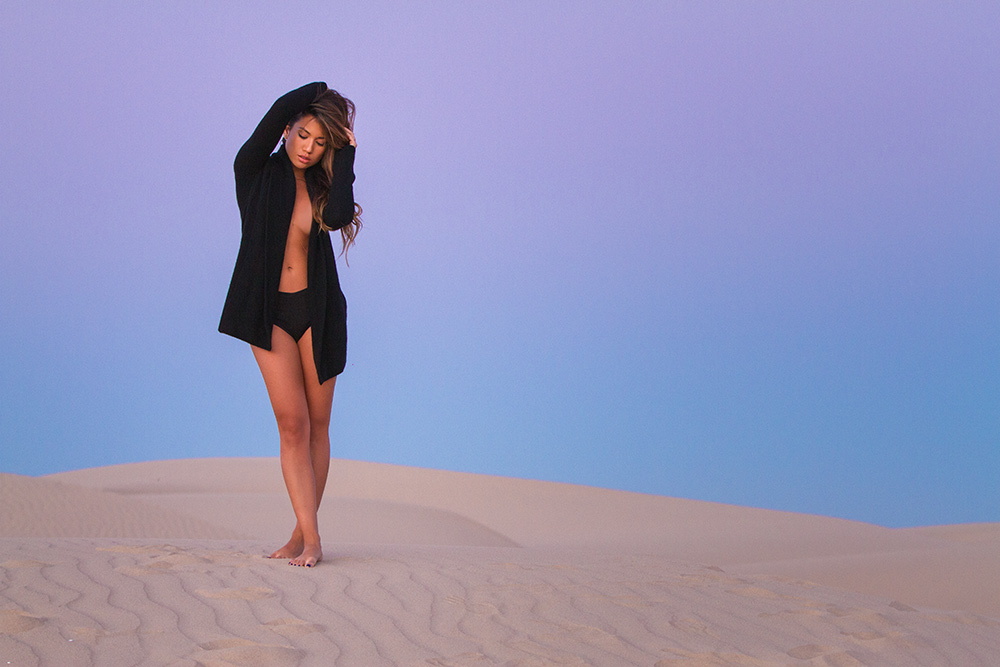 Jessi Malay in Skull Cashmere, 360 Cashmere Sweater in Pismo Beach Sand Dunes for Fashion Blog MyWhiteT