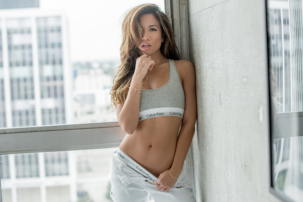 Jessi Malay #MyCalvins for Calvin Klein in Los Angeles
