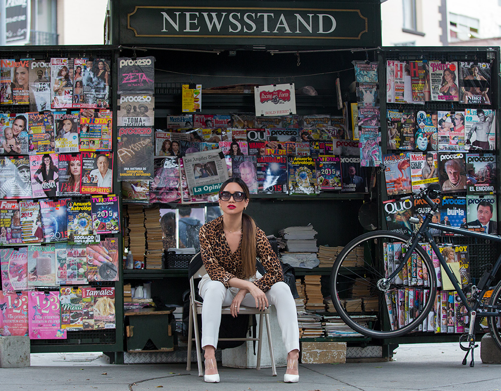 Jessi Malay at Downtown LA Newsstand for My White T Fashion Blog