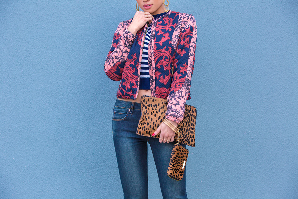 Fashion Blogger Jessi Malay wearing H&M Patterned Jacket