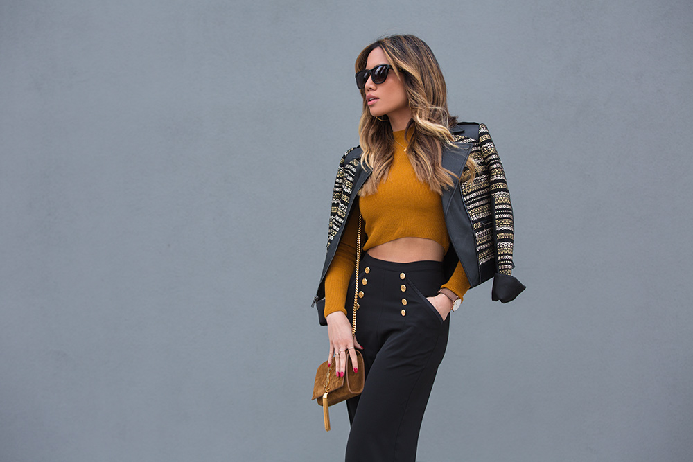 Jessi Malay in BCBG Leonardo Jacket for fashion blog mywhiteT