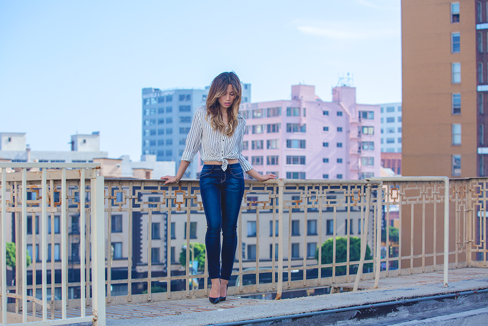 Jessi Malay wearing YMI Jeans for MyWhiteT