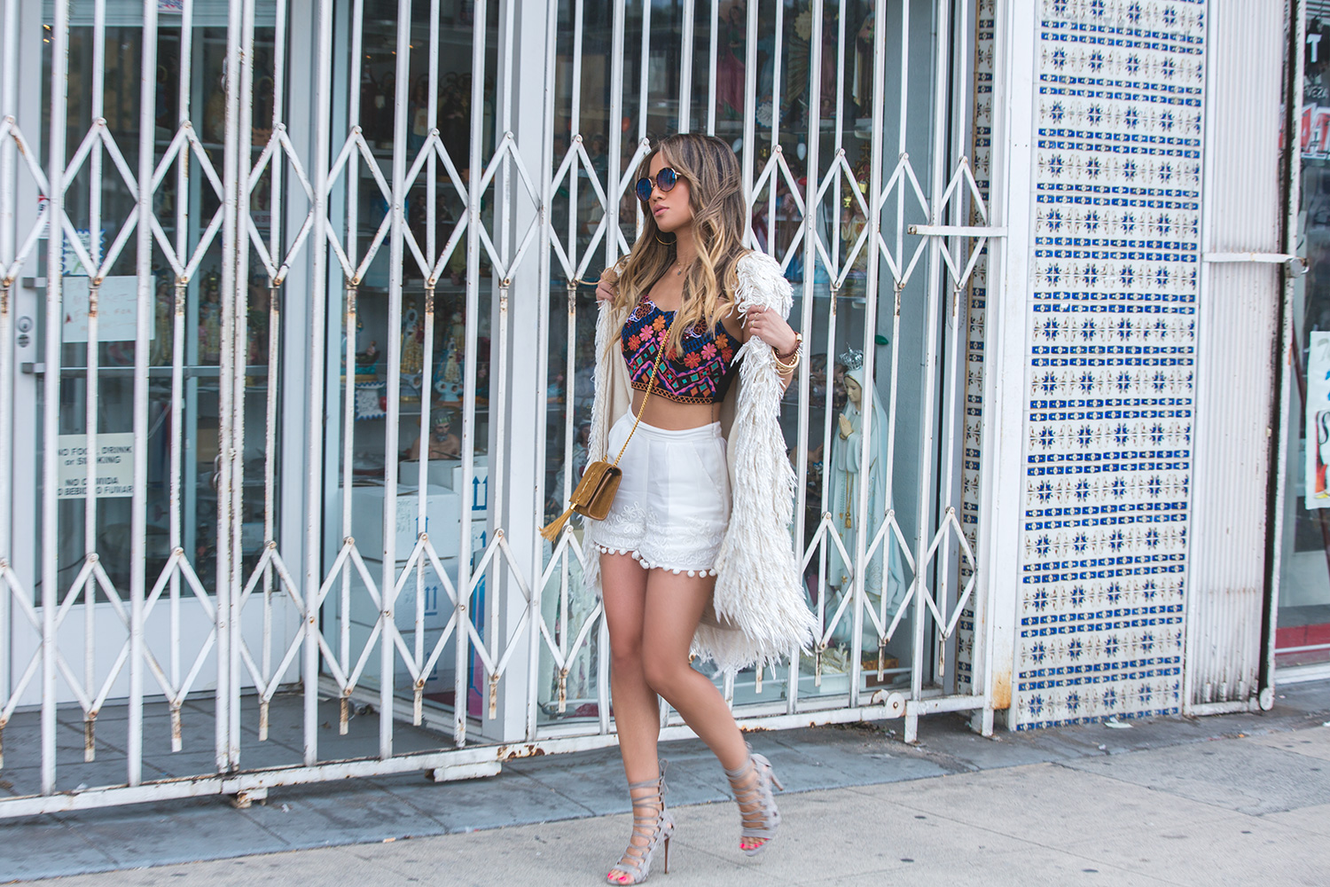 Jessi Malay wearing an Isabel Marant Fringe Vest for Fashion Blog MyWhiteT