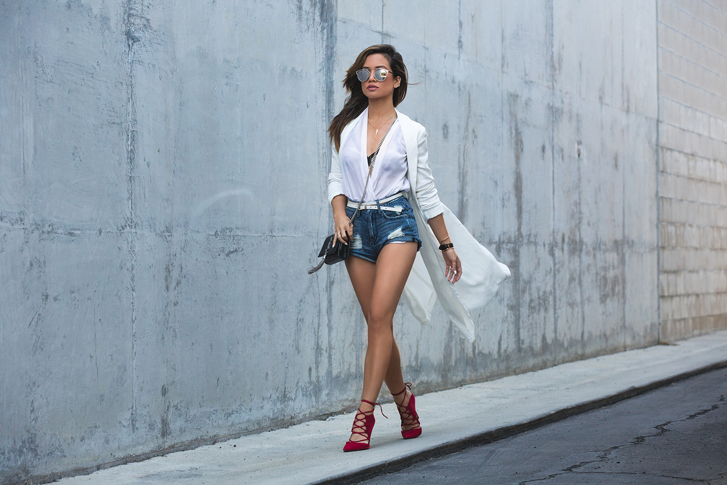 Jessi Malay for LA Fashion Blog My White T