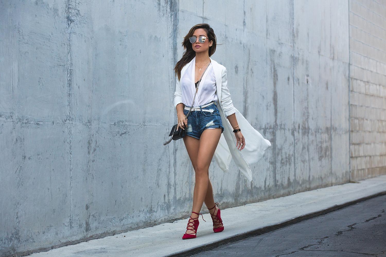 Jessi Malay for LA Fashion Blog My White T