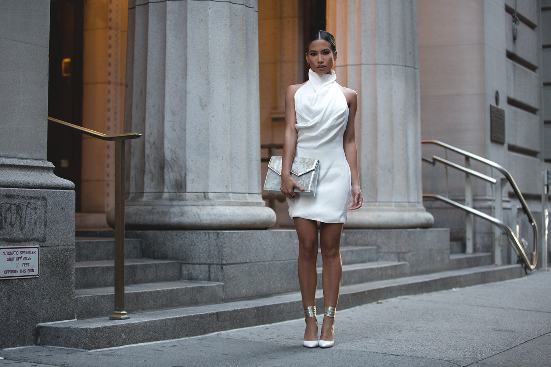 Jessi Malay wearing Misha Collection at NYFW SS16 2015