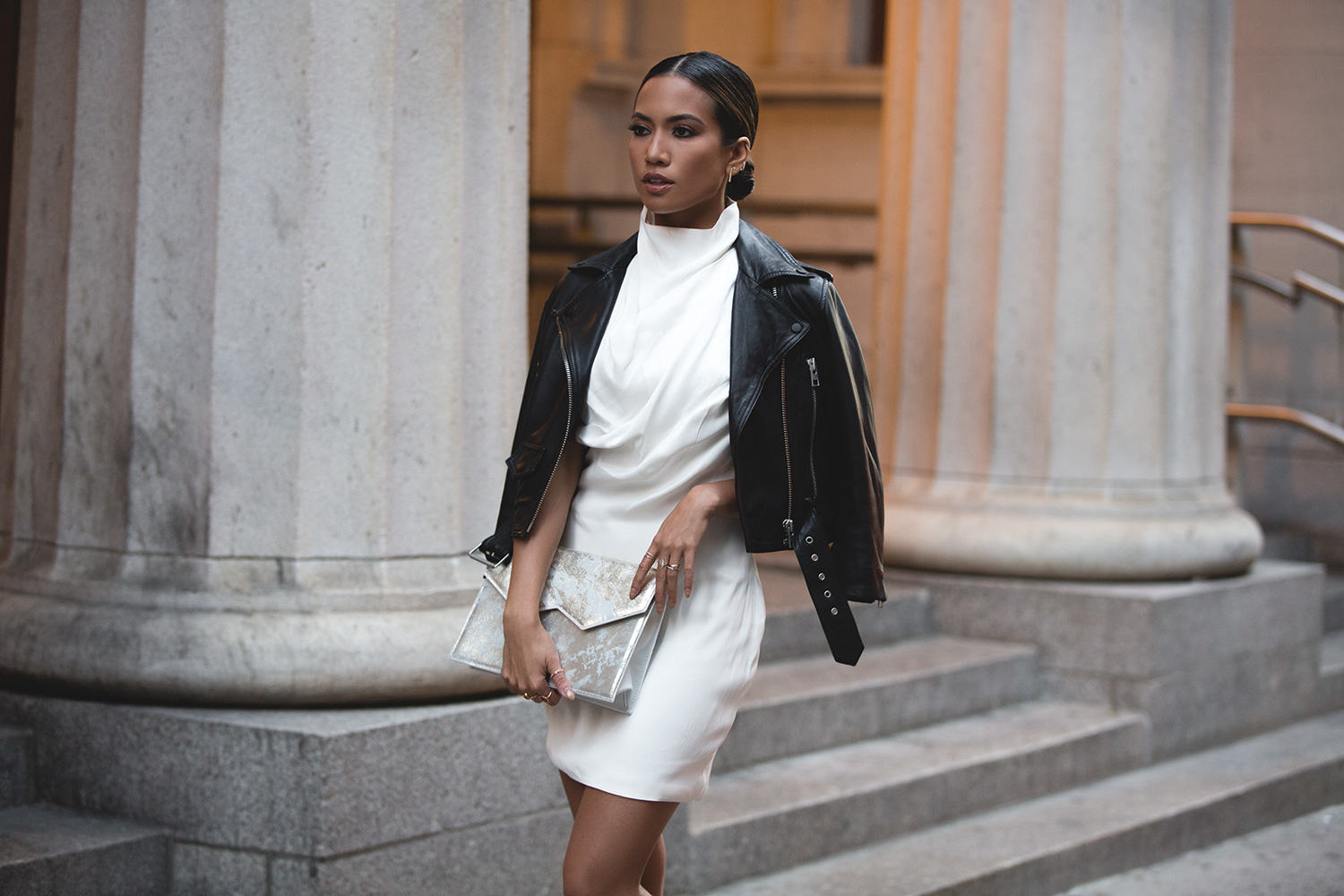 Jessi Malay wearing Misha Collection at NYFW SS16 2015