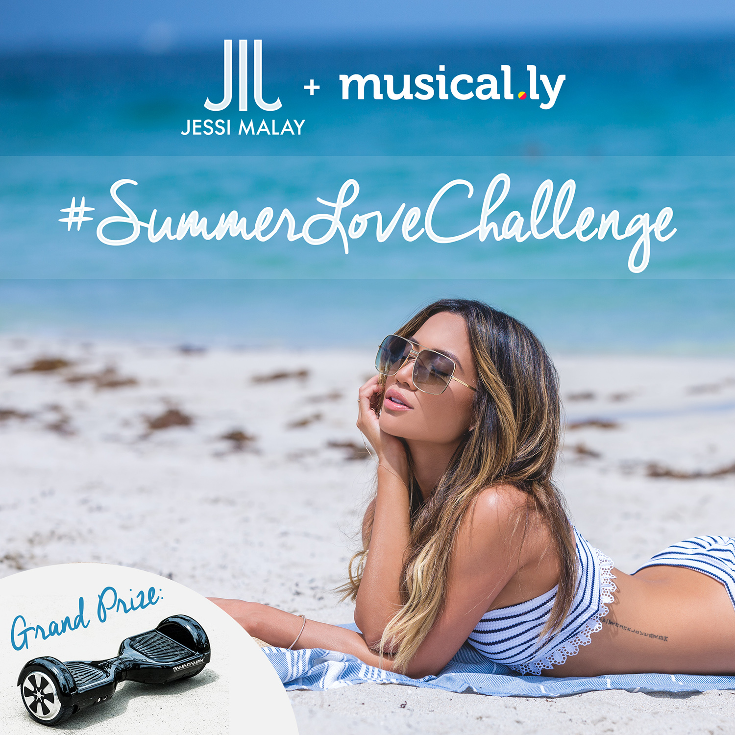 Jessi Malay musical.ly #SummerLoveChallenge