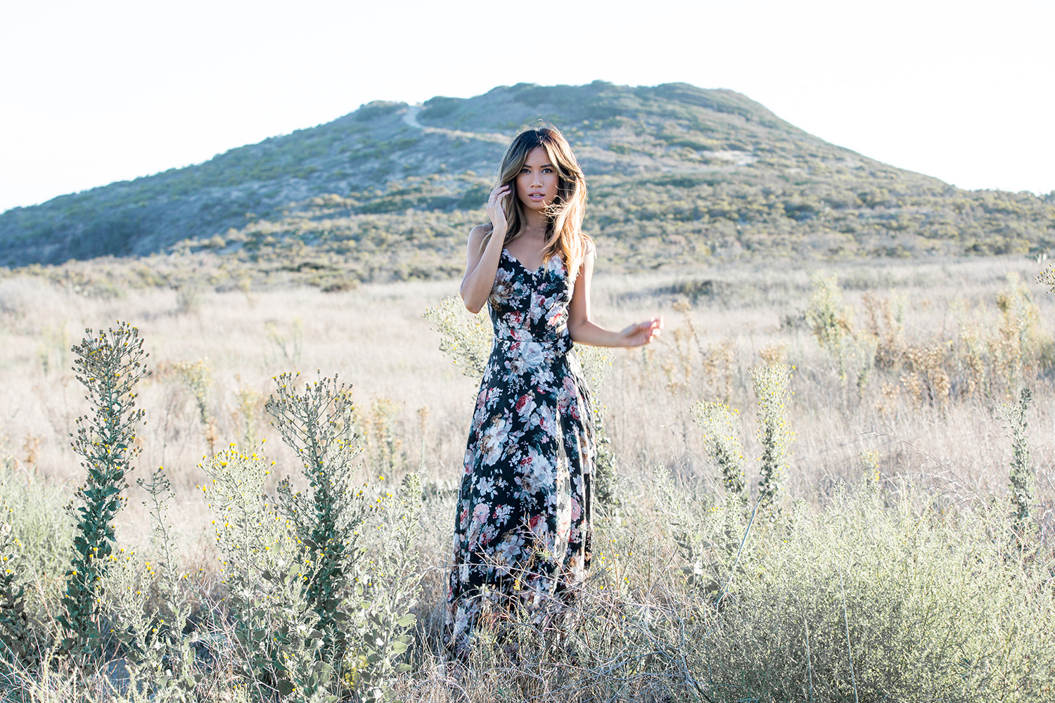 Jessi Malay wearing Lucy Paris Floral Maxi