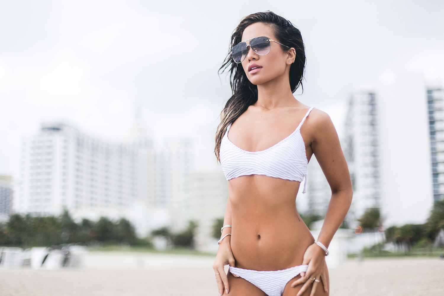 Jessi Malay in Miami for Art Basel Photoshoot
