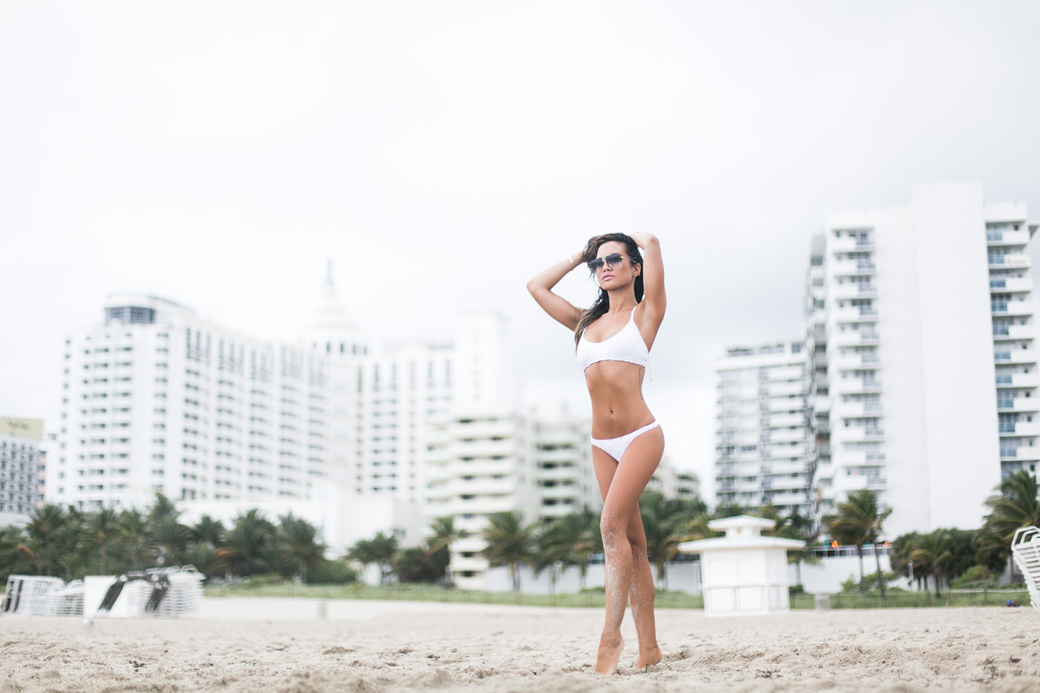 Jessi Malay in Mobo Swimwear in Miami