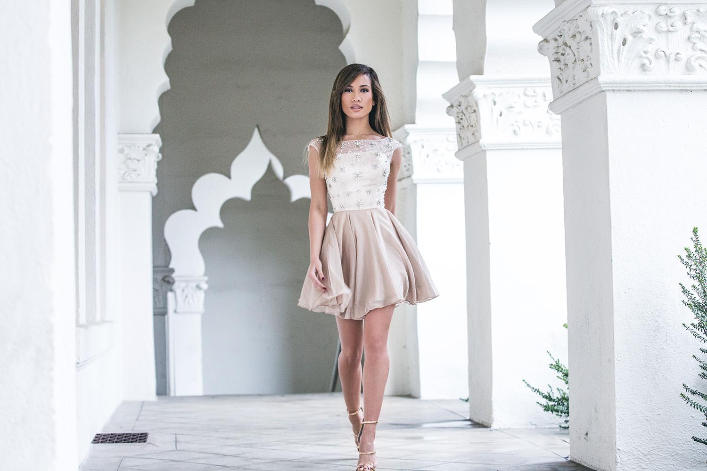 Jessi Malay wearing Glam Union Avelina Dress