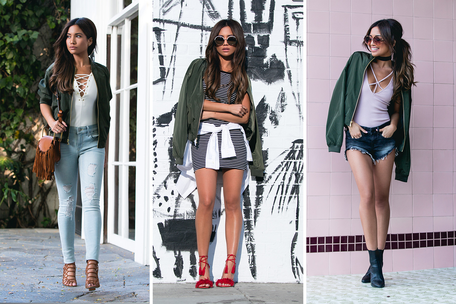 3 Ways to Style Your Bomber Jacket