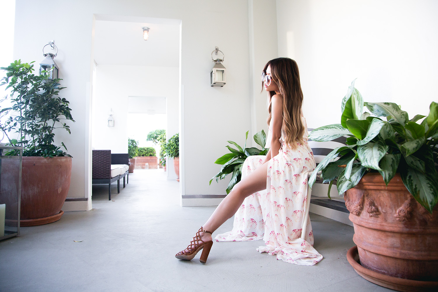 Jessi Malay wearing Revolve at The Modern Honolulu