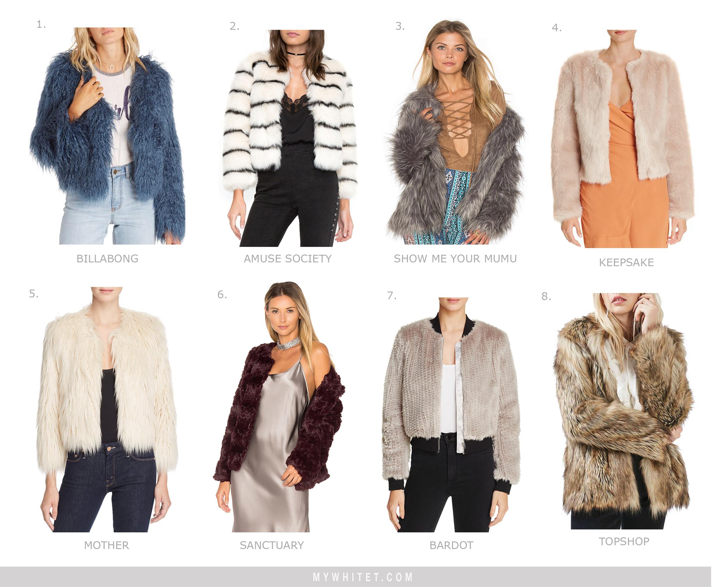 Faux Fur Jackets Under $200