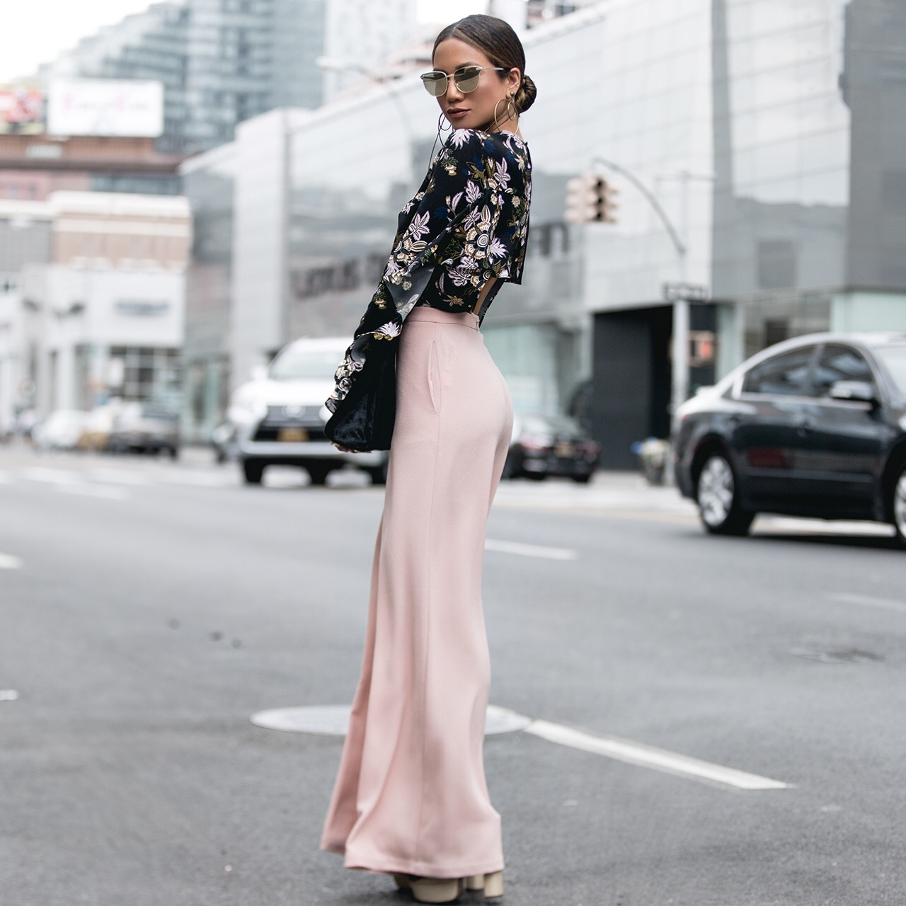 Jessi Malay wearing Zimmermann Trousers