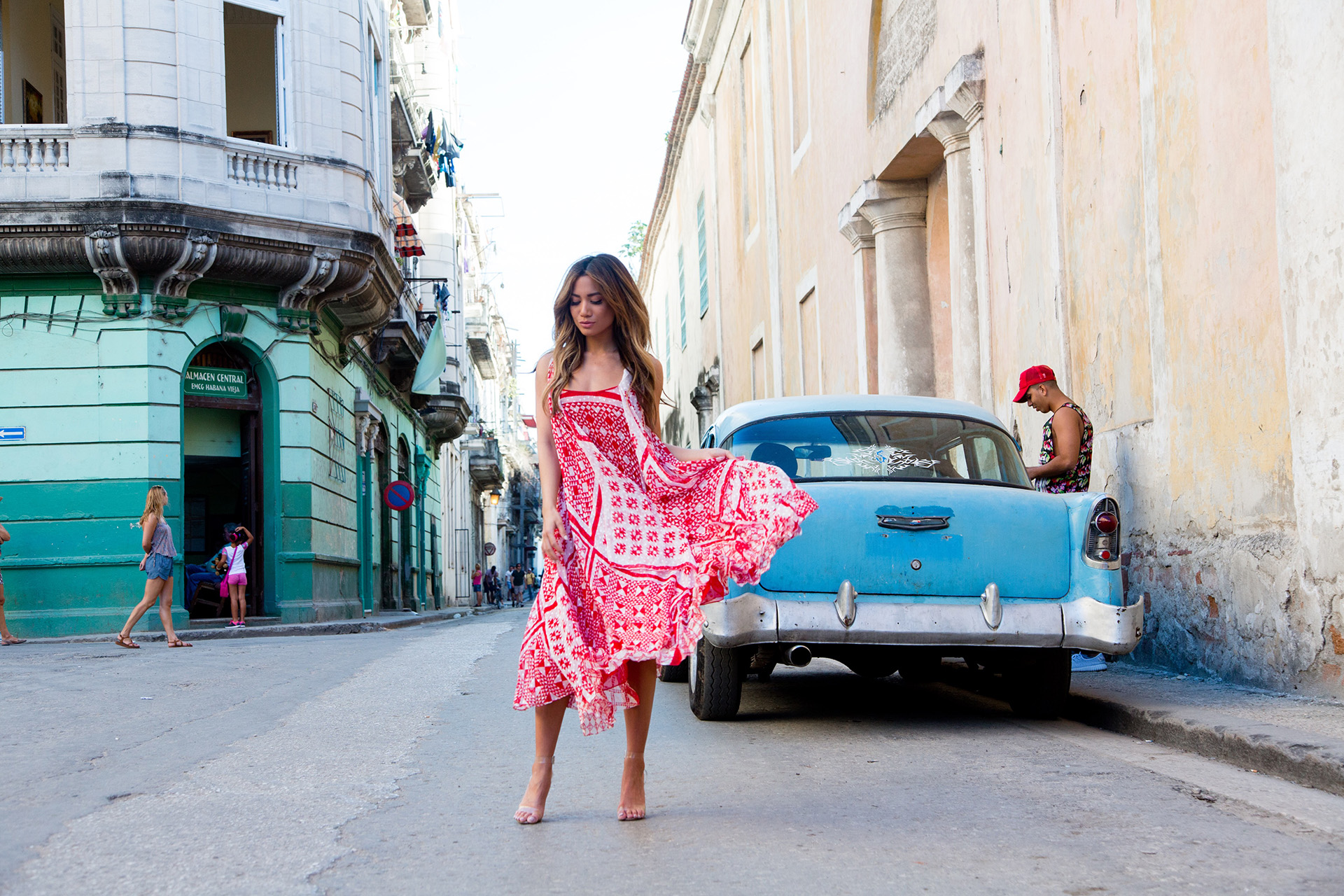 FendiResort17 x Jessi Malay in Fendi in Havana Cuba