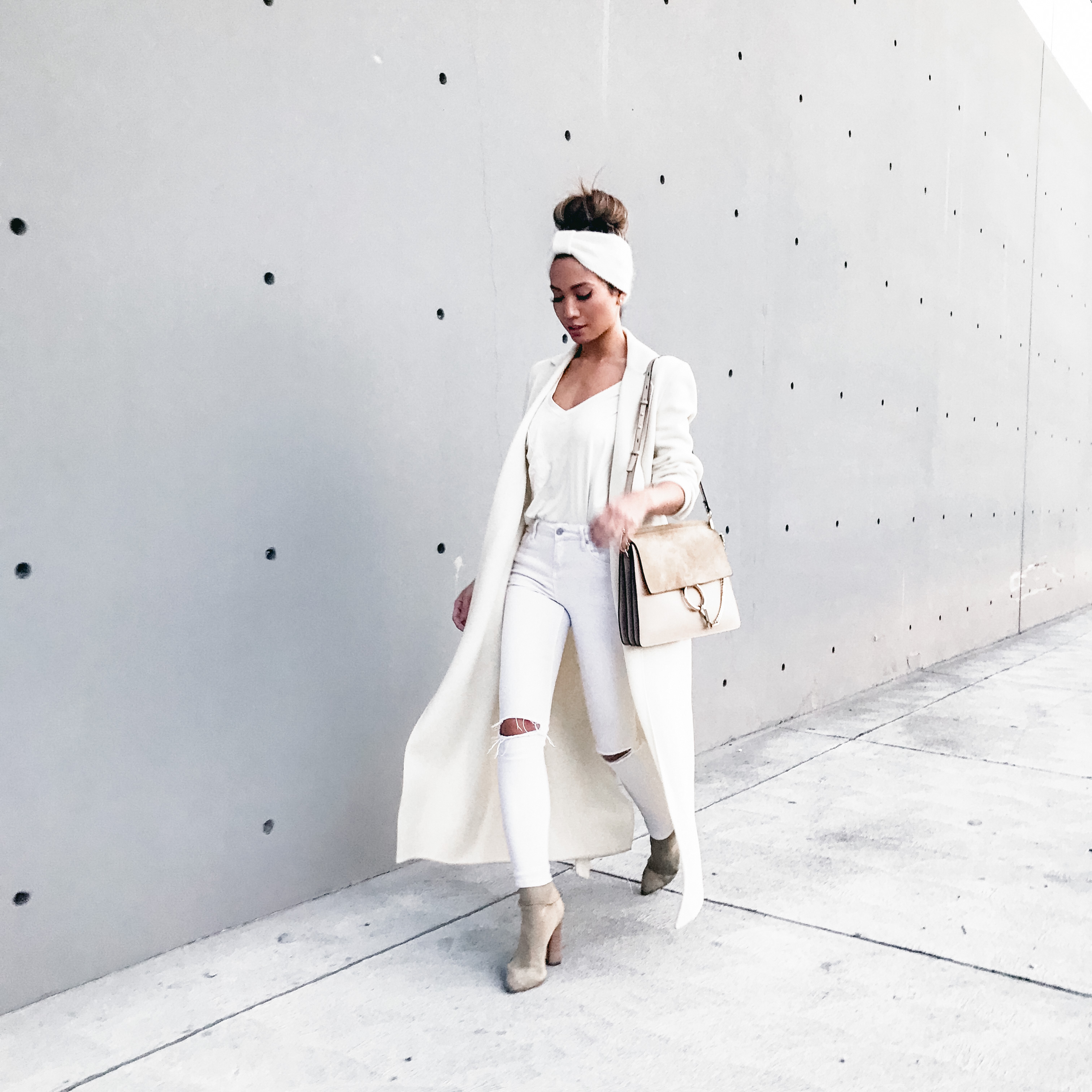 Jessi Malay wearing Winter Whites