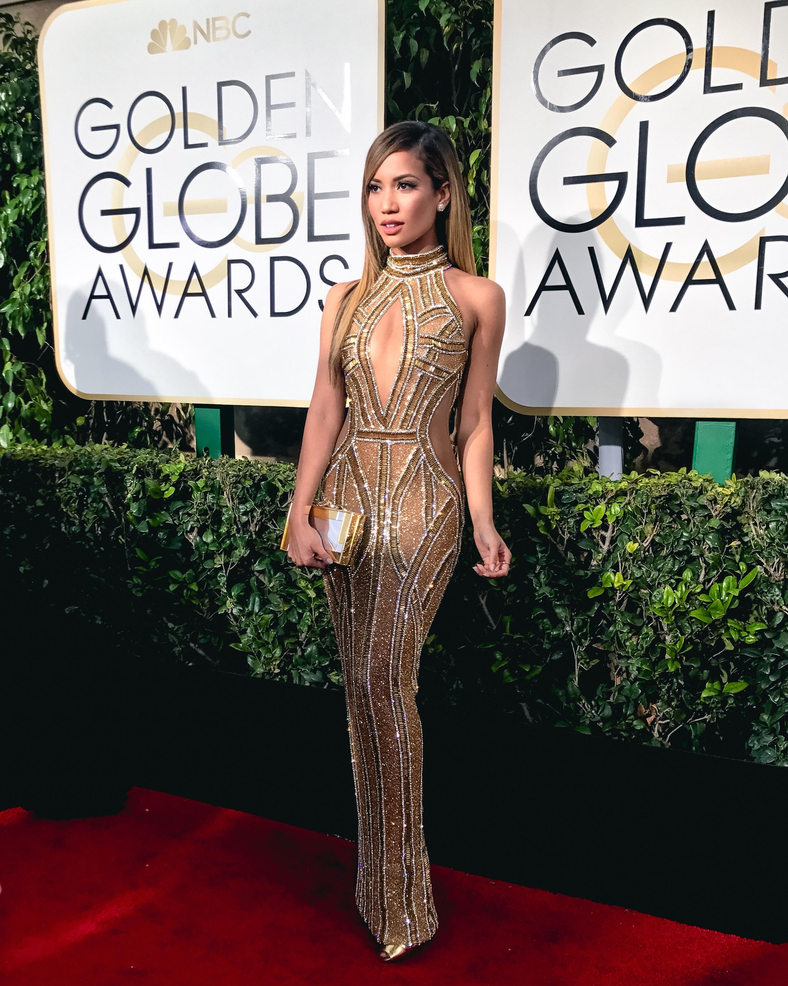 Jessi Malay at the Golden Globes