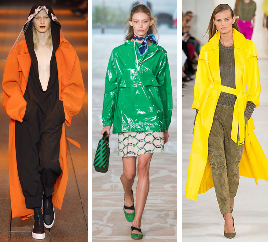 Colorful coats at NYFW