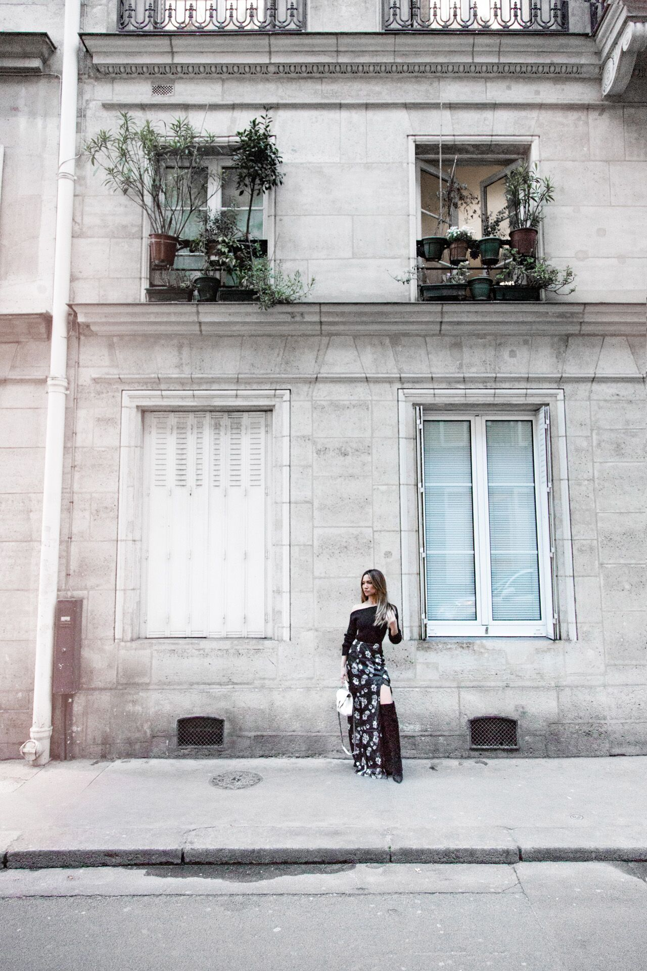 Jessi Malay wearing Revolve at Paris Fashion Week