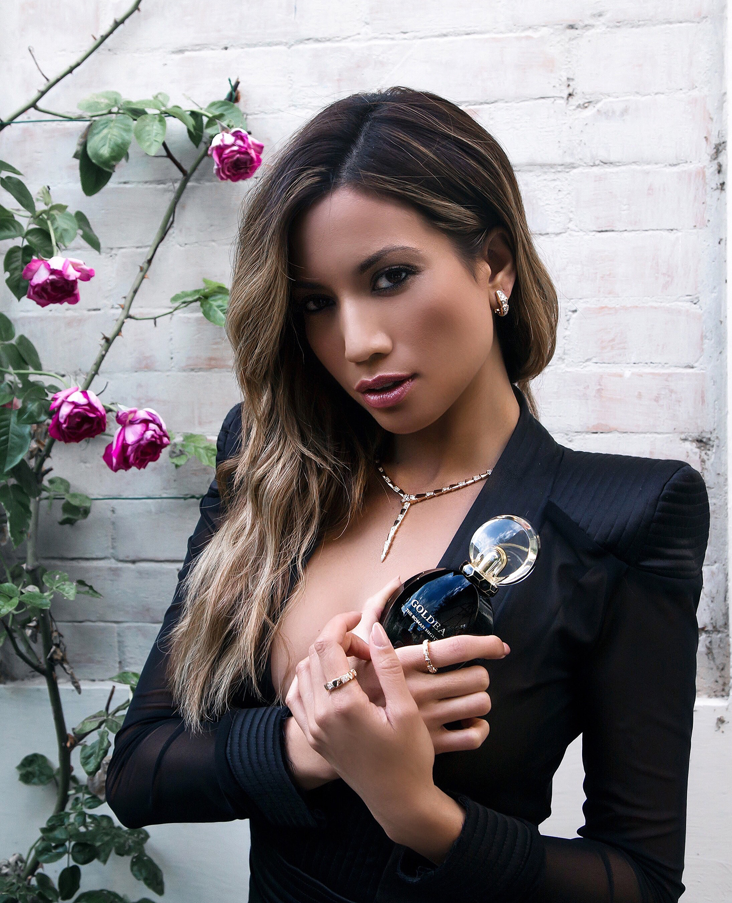 Jessi Malay with Bulgari