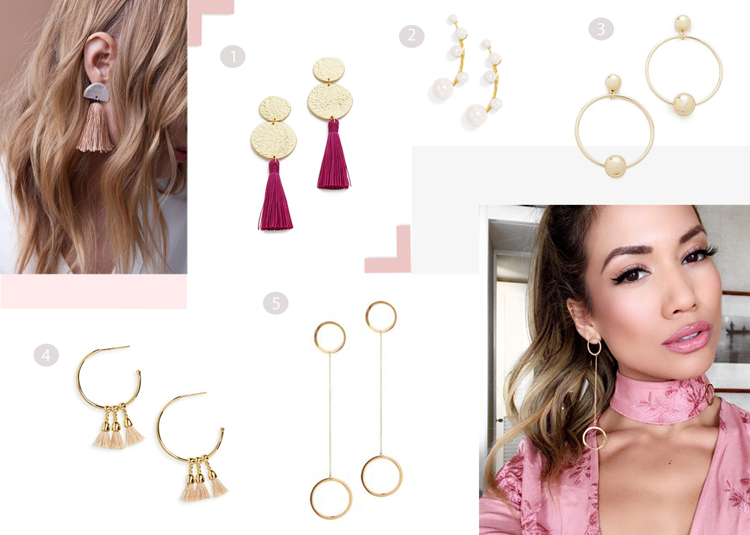 Jessi Malay wearing Jennifer Zeuner Earrings