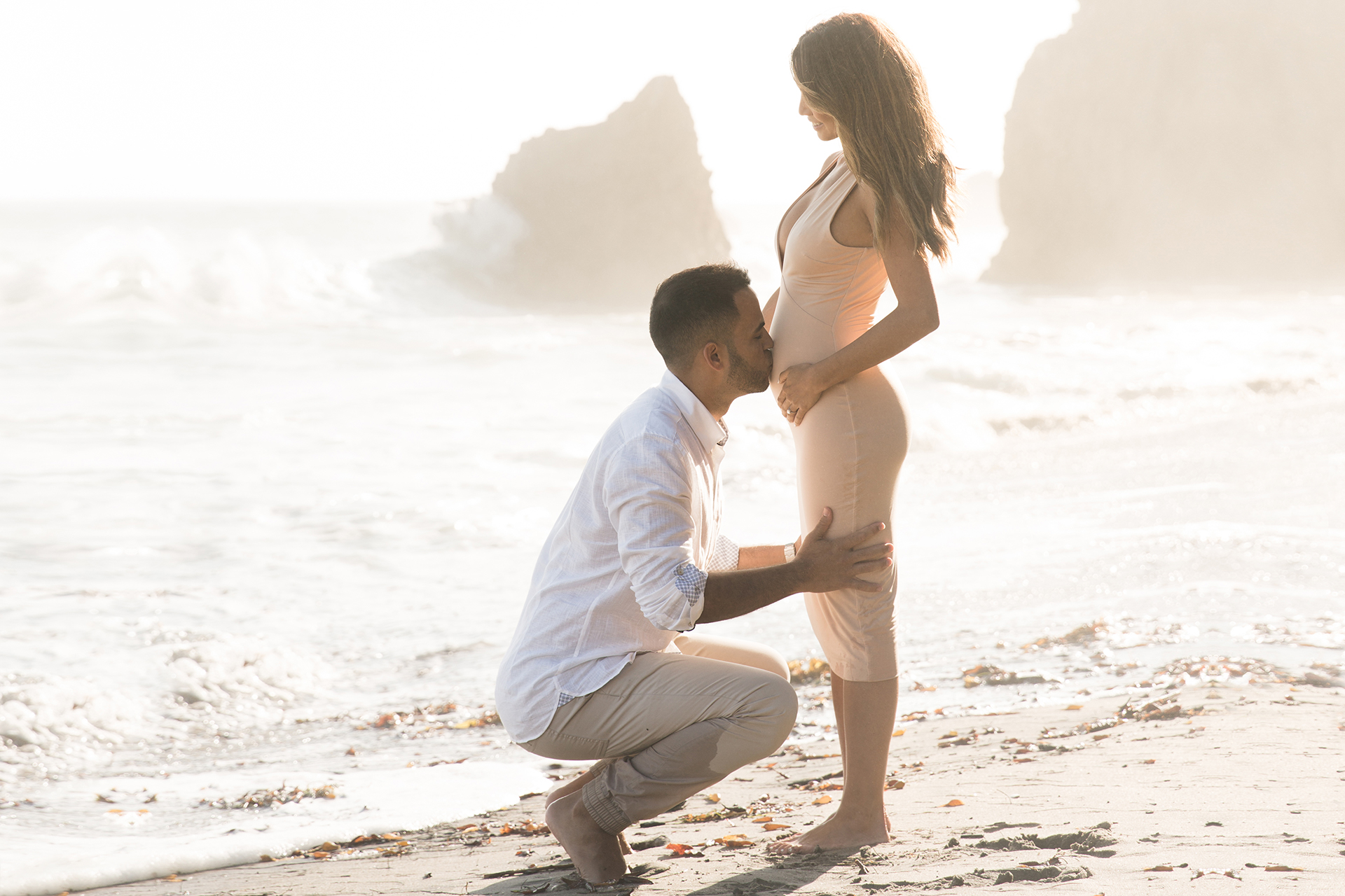 Jessi Malay Pregnancy Announcement Beach Photoshoot