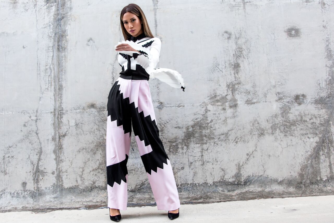 Jessi Malay wearing Charles Youssef