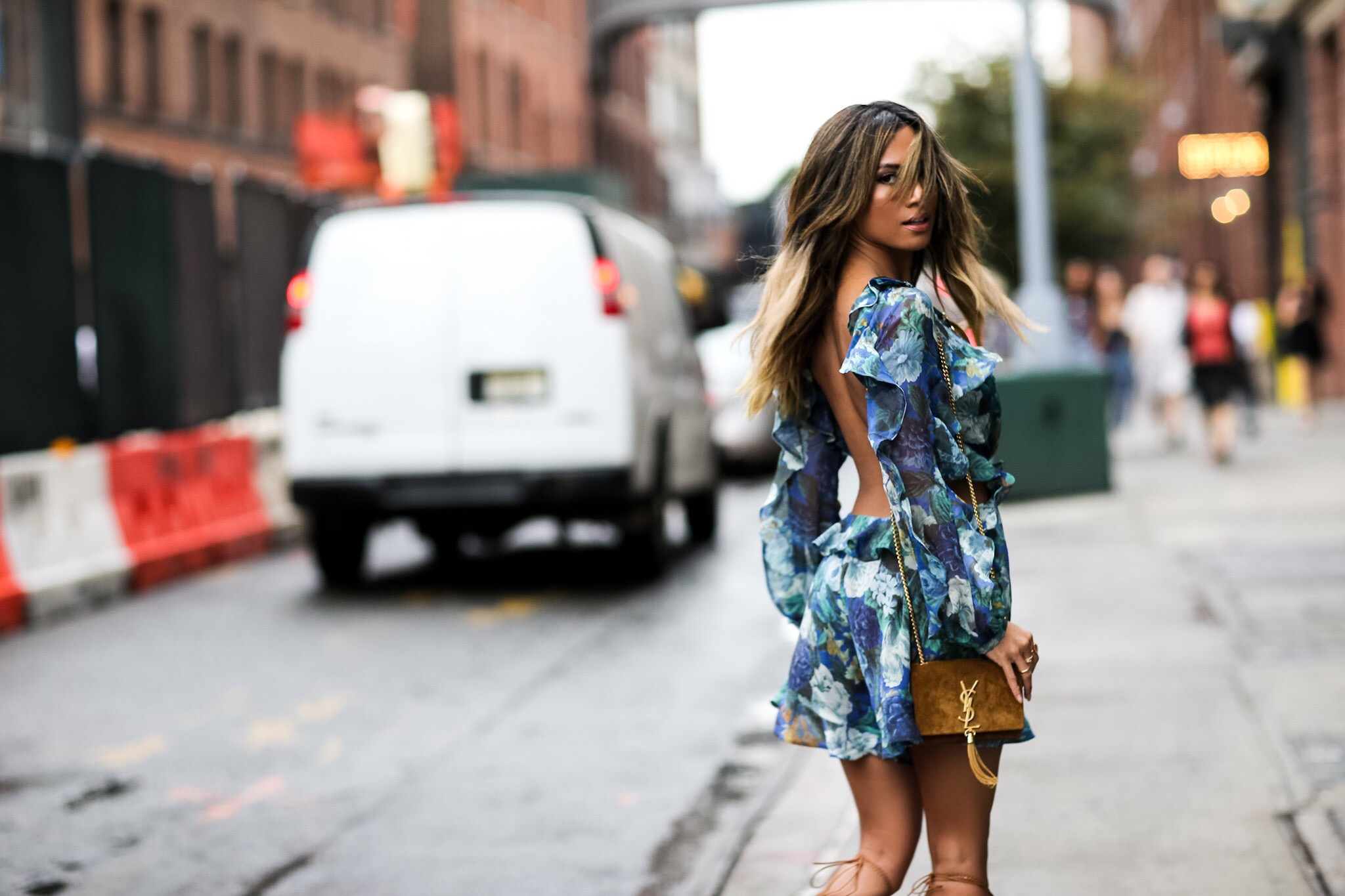 Jessi Malay wearing Zimmermann Floral Romper