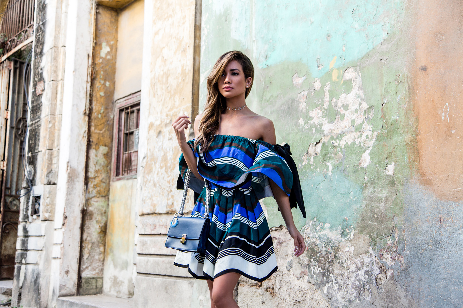 FendiResort17 Jessi Malay in Fendi in Havana Cuba