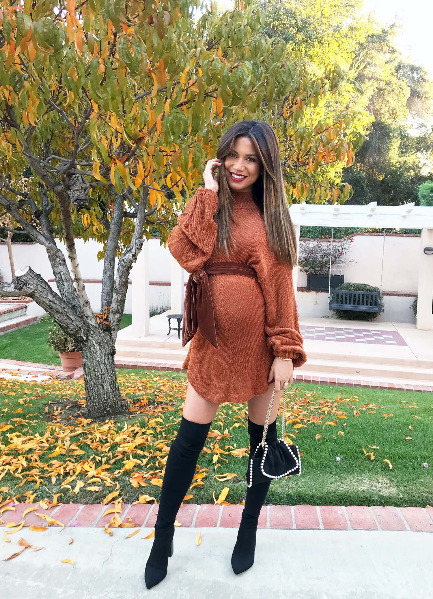 Jessi Malay Pregnancy Style Sweater Dress