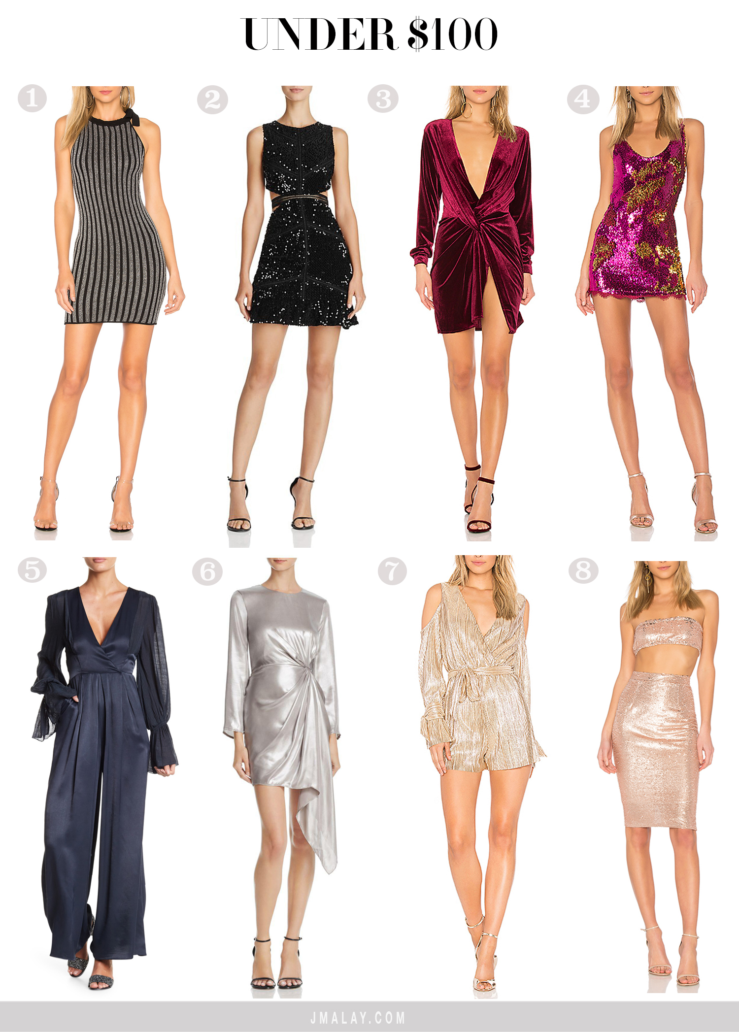 NYE dresses 2018 under $100 affordable shop guide