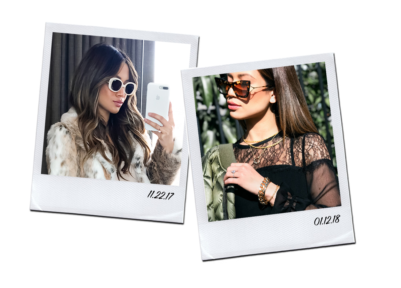 Jessi Malay tiny sunglasses celebrity trend Kim Kardashian Bella Hadid