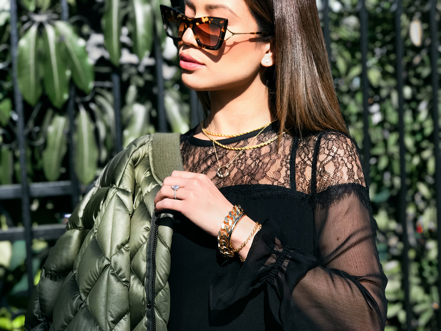 Jessi Malay wearing Dita Sunglasses