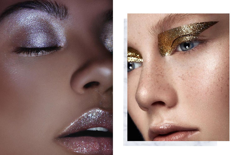 Glitter Makeup Trend KKW Glitter Glosses Eyeshadow