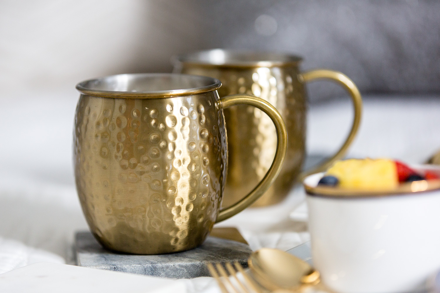 gold Moscow mule set mays
