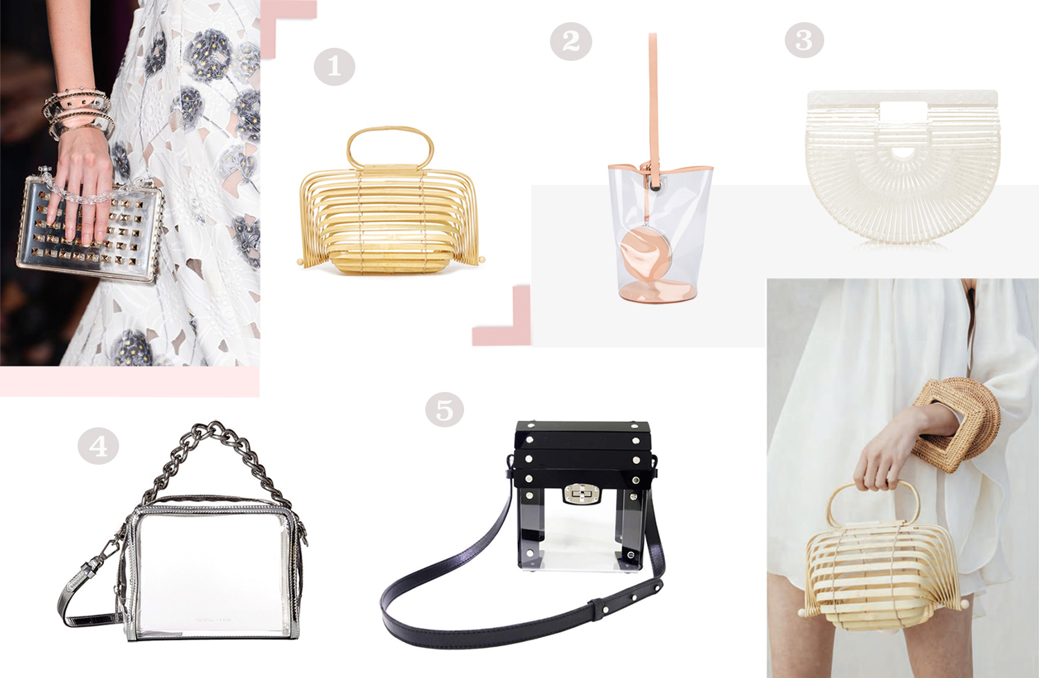 bag trends spring 2018 see through clear bags