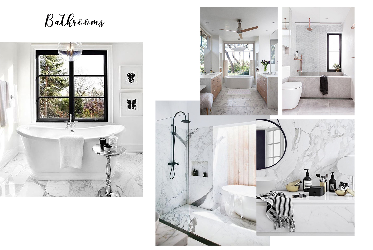 interior design inspiration Pinterest bathrooms