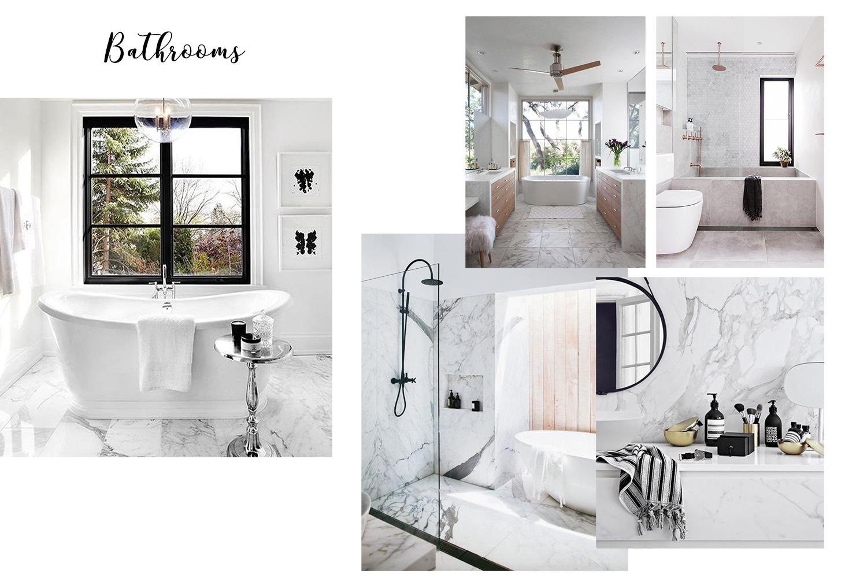 interior design inspiration Pinterest bathrooms