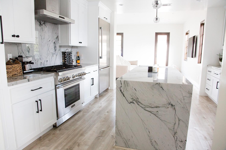 Jessi Malay House Kitchen Marble Interior Inspo