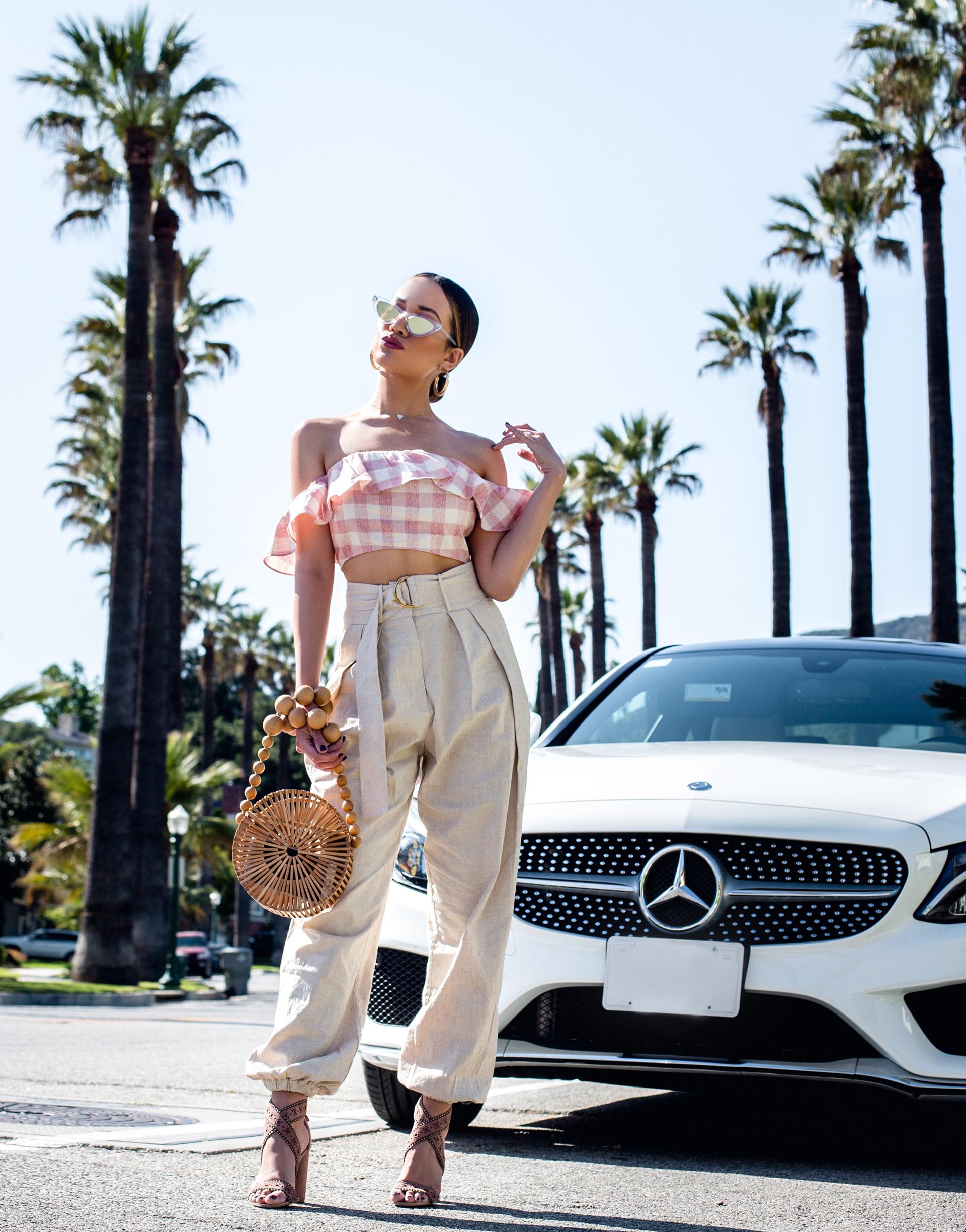 Jessi Malay Revolve Tularosa Pants Coachella Outfit