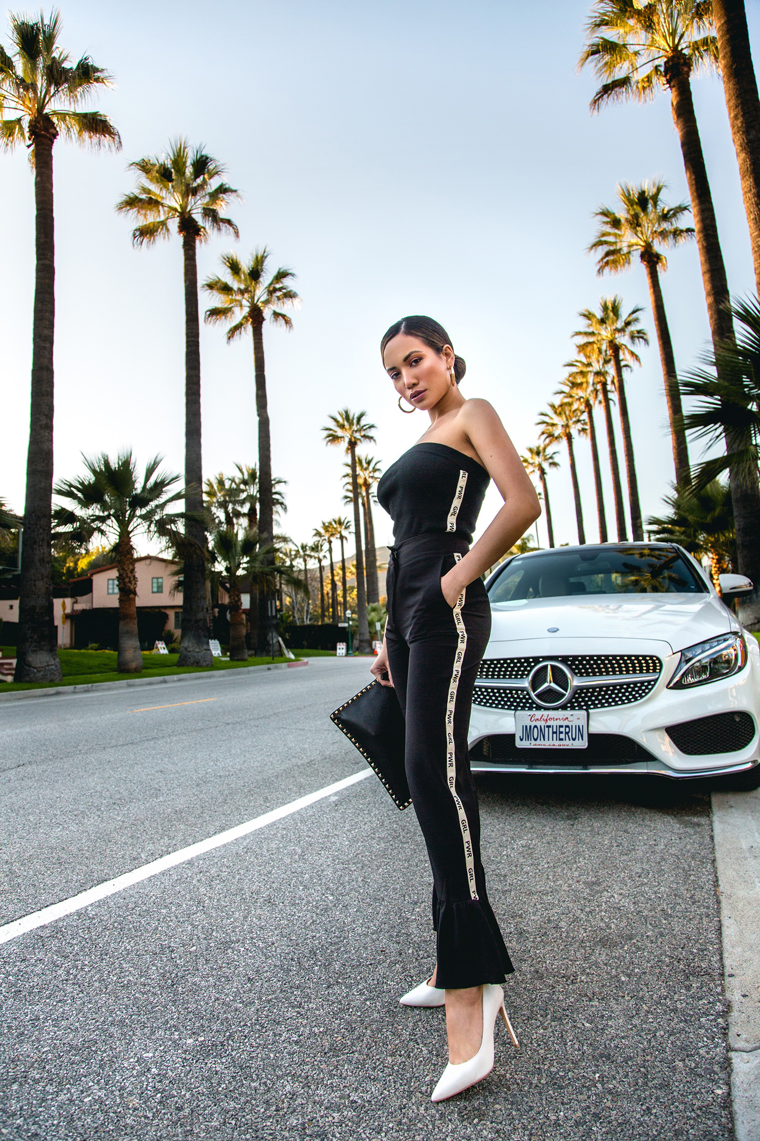 Jessi Malay Olivia culpo marled collection grl pwr pants