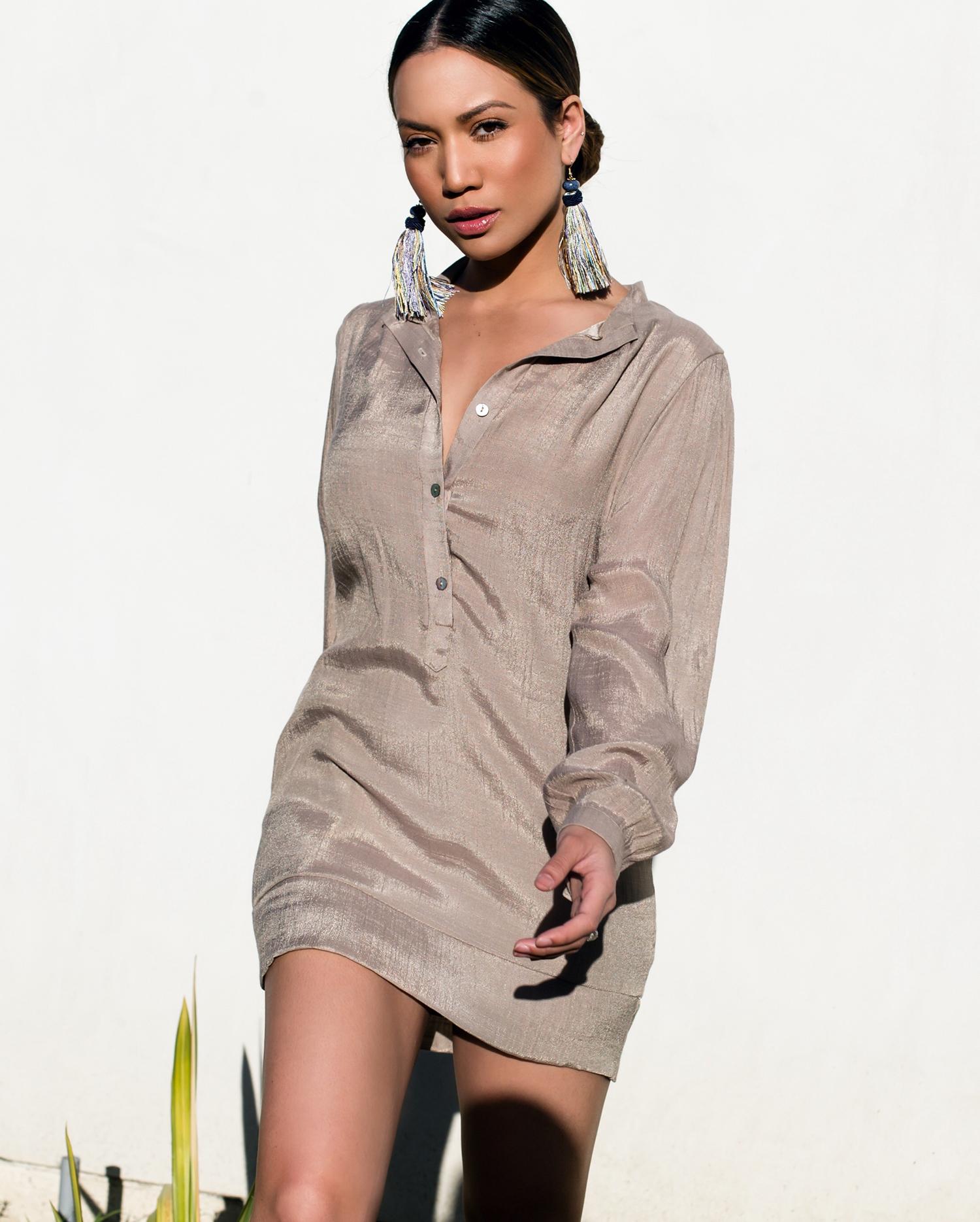 Jessi Malay wearing Misha Vaidya Dress